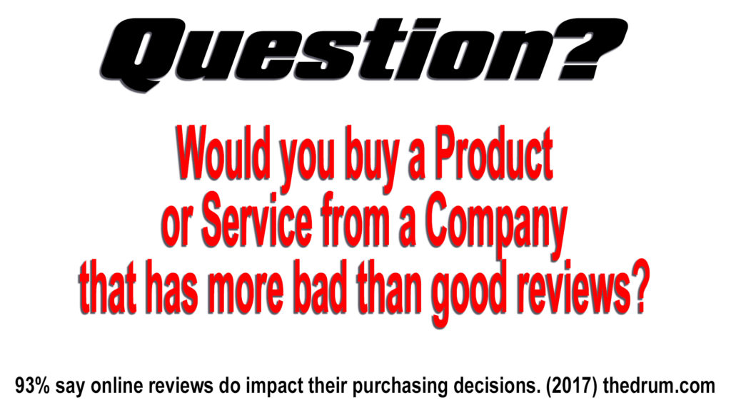 Would you buy from a company with a bad star rating?